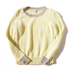 Banana Republic Yellow Grey Sweater